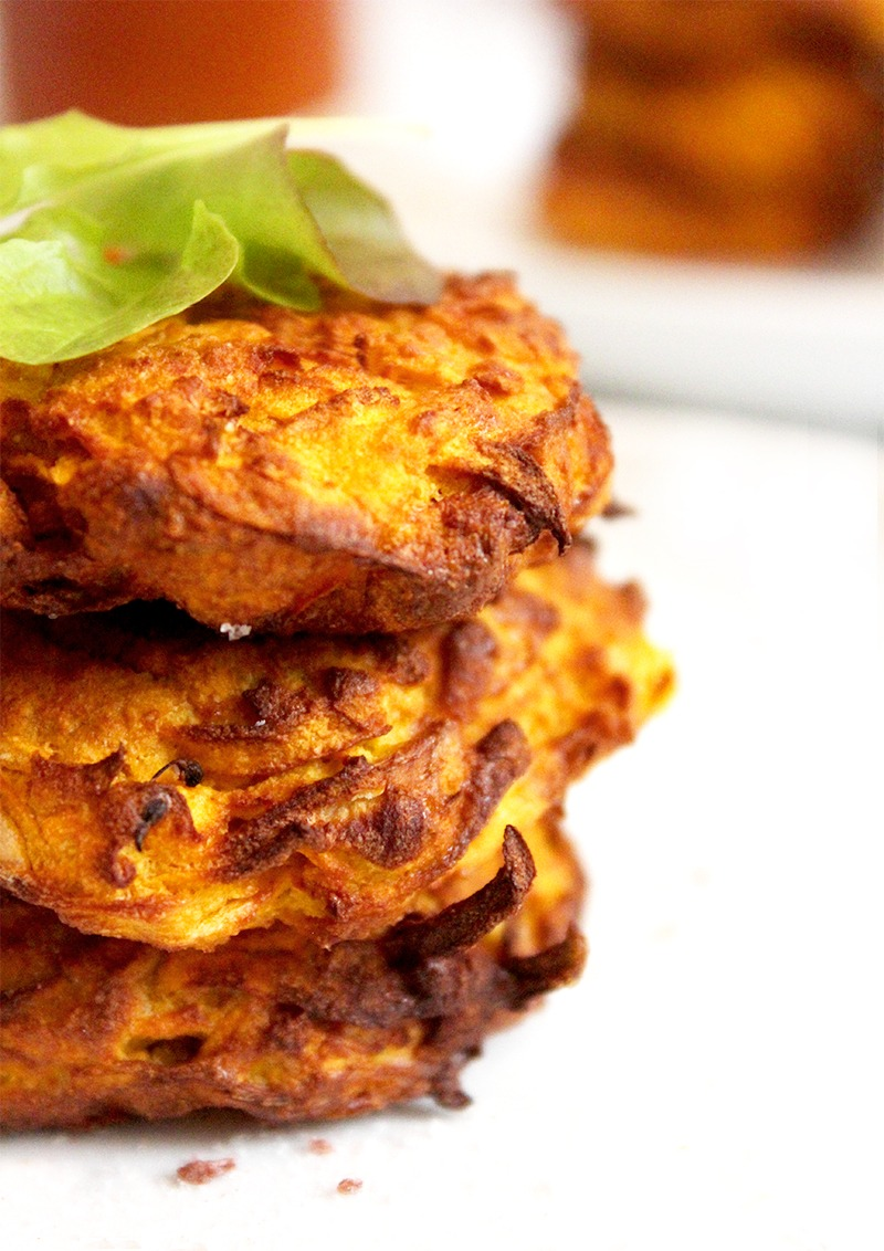 Vegan Sweet Potato Fritters Air Fryer Oven Method Lemonthyme
